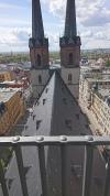 Stadthaus-Sanierung: Reparaturen an Dachkonstruktion, Festsaaldecke und Fassade beginnen
